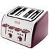 Tefal Maison TT7705UK Stainless Steel 4 Slice Toaster - Pomegranate Red: Image 2