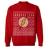 DC Comics Men's The Flash Christmas Fairisle Sweatshirt - Red: Image 1