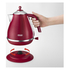 De'Longhi Elements Kettle and Four Slice Toaster - Red: Image 2