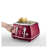 De'Longhi Elements Kettle and Four Slice Toaster - Red: Image 5
