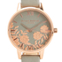 Olivia Burton Women's Lace Detail Watch - Grey & Rose Gold: Image 3