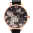Olivia Burton Women's Signature Floral Watch - Black/Rose Gold: Image 4