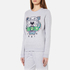 KENZO Women's Embroidered Tiger On Light Cotton Molleton Sweatshirt - Light Grey: Image 2