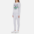 KENZO Women's Embroidered Tiger On Light Cotton Molleton Sweatshirt - Light Grey: Image 4