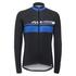 Santini Pilot Thermofleece Long Sleeve Jersey - Blue: Image 2