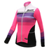 Santini Women's Coral Thermal Long Sleeve Jersey - Pink: Image 1