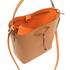 Lauren Ralph Lauren Women's Dryden Debby Drawstring Bag - Field Brown/Monarch Orange: Image 5