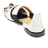 Toga Pulla Women's Leather Jewelled Toe Pointed Flats - White: Image 4