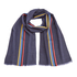 Paul Smith Men's Central Stripe Wool Scarf - Black: Image 1