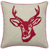 Catherine Lansfield Stags Head Cushion (45cm x 45cm) - Red: Image 1