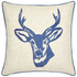 Catherine Lansfield Stags Head Cushion (45cm x 45cm) - Navy: Image 1
