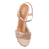 UGG Women's Fitchie II T-Strap Jute Wedged Espadrille Sandals - Soft Gold: Image 3