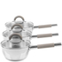 Salter Colour Collection Stainless Steel 3 Piece Pan Set: Image 1