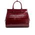 Aspinal of London Women's Large Snap Bag - Bordeaux Croc: Image 6