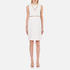 Alexander Wang Women's Crew Neck Fish Line Detail Straight Cut Dress - Bone: Image 1