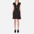 Alexander Wang Women's Short A-Line Dress with Gathered Sleeves - Matrix: Image 1