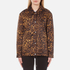 Alexander Wang Women's Classic Coaches Embroidered Patch Detail Jacket - Leopard: Image 1