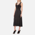 Alexander Wang Women's Midi Length Fluid Skirt Dress with Bustier Detail - Matrix: Image 3