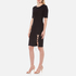 Alexander Wang Women's Crew Neck Short Sleeve Pullover with Back Slit Lacing - Matrix: Image 3