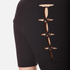 Alexander Wang Women's Crew Neck Short Sleeve Pullover with Back Slit Lacing - Matrix: Image 4