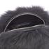 Diane von Furstenberg Women's Love Power Tipped Fox Puff Bag - Black: Image 5