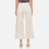 T by Alexander Wang Women's Stretch Cotton High Waisted Culottes - Eggshell: Image 3