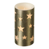 Parlane Star LED Candle - Gold (15cm): Image 1