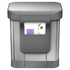 simplehuman Rectangular Brushed Steel Pedal Bin with Liner Pocket 30L: Image 3