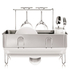 simplehuman Compact Brushed Steel Dish Rack: Image 3
