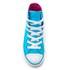 Converse Kids' Chuck Taylor All Star Hi-Top Trainers - Fresh Cyan/Magenta Glow/White: Image 3