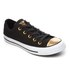 Converse Women's Chuck Taylor All Star Ox Trainers - Black/Gold/White: Image 2