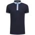Brave Soul Men's Mozi Jersey Polo Shirt - Dark Navy/Sky Blue: Image 1