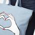 Lulu Guinness Women's Luisa Heart Hands Denim Tote Bag - Denim: Image 3