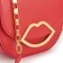 Lulu Guinness Women's Small Smooth Leather Amy Cross Body Bag - Coral: Image 5
