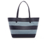 MICHAEL MICHAEL KORS Women's Striped Canvas Large East West Tote Bag - Denim: Image 4