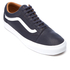 Vans Men's Old Skool Premium Leather Trainers - Parisian Night/True White: Image 2