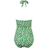 Ganni Women's Lyme Frill Swimsuit - Green: Image 2