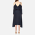 Gestuz Women's Jeannine Strap Silk Dress - Navy: Image 3