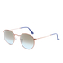 Ray-Ban Round Flat Lenses Gold Frame Sunglasses - Gold/Pink Gradient: Image 3