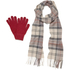Barbour Women's Scarf and Gloves Set - A Neutral: Image 4