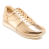 MICHAEL MICHAEL KORS Women's Allie Plate Wrap Leather Trainers - Pale Gold: Image 2