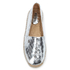 MICHAEL MICHAEL KORS Women's Kendrick Metallic Leather Slip-On Espadrilles - Silver: Image 3