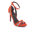 Kendall + Kylie Women's Goldie Suede Heeled Sandals - Bright Coral/Clear: Image 2