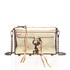 Rebecca Minkoff Women's Mirrored Metallic Mini M.A.C. Cross Body Bag - Pale Gold: Image 1