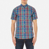 GANT Men's Small Check Short Sleeve Shirt - Persian Blue: Image 1