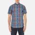 GANT Men's Small Check Short Sleeve Shirt - Persian Blue: Image 1