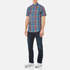 GANT Men's Small Check Short Sleeve Shirt - Persian Blue: Image 2
