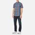 GANT Men's Small Check Short Sleeve Shirt - Persian Blue: Image 2