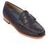 Bass Weejuns Men's Palm Springs Larson Mon Leather Penny Loafers - Navy: Image 2