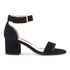 Dune Women's Jaygo Suede Barely There Blocked Heeled Sandals - Black: Image 1
